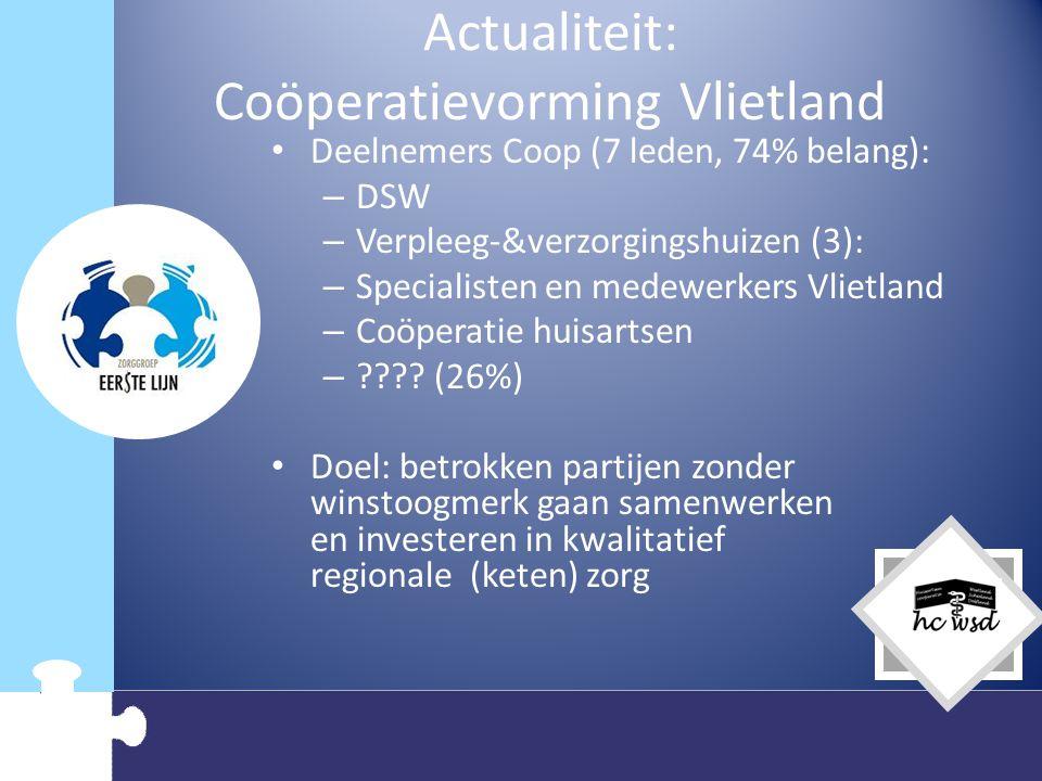Actualiteit: Coöperatievorming Vlietland