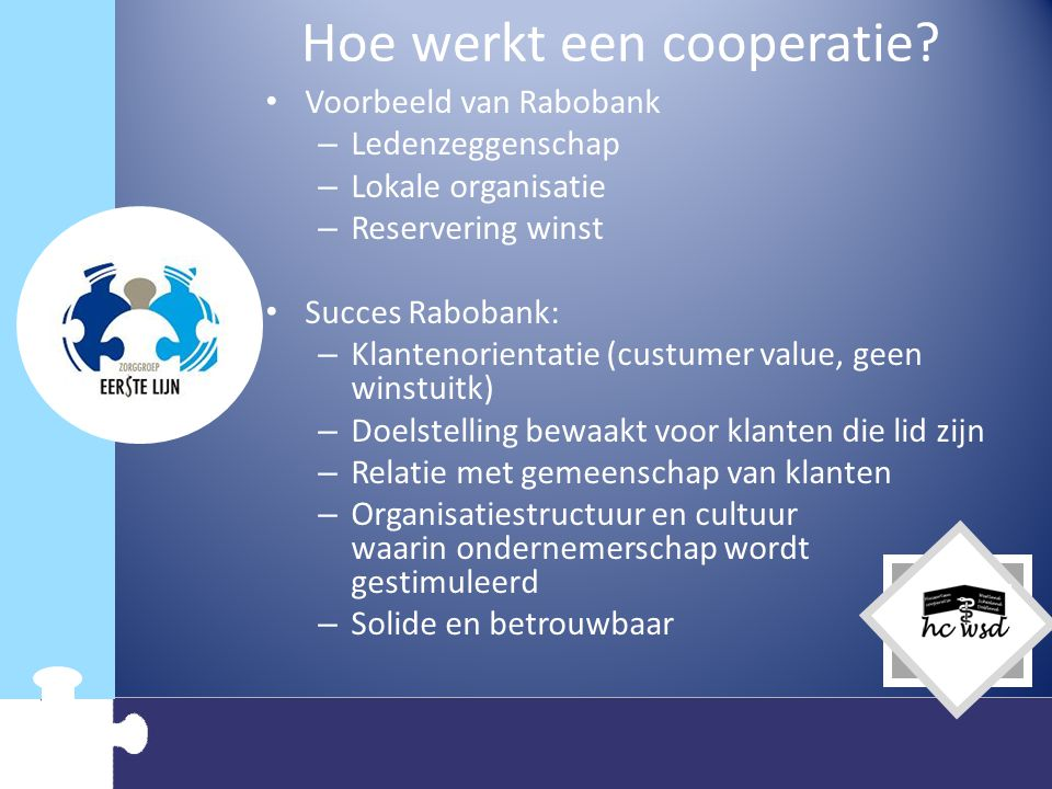 Hoe werkt een cooperatie