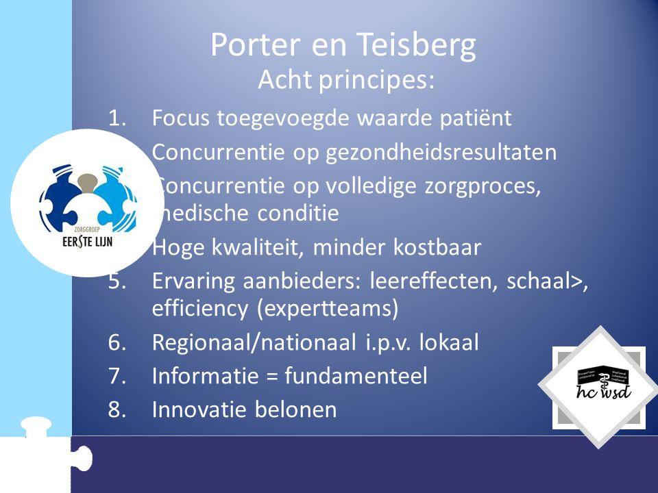 Porter en Teisberg Acht principes: