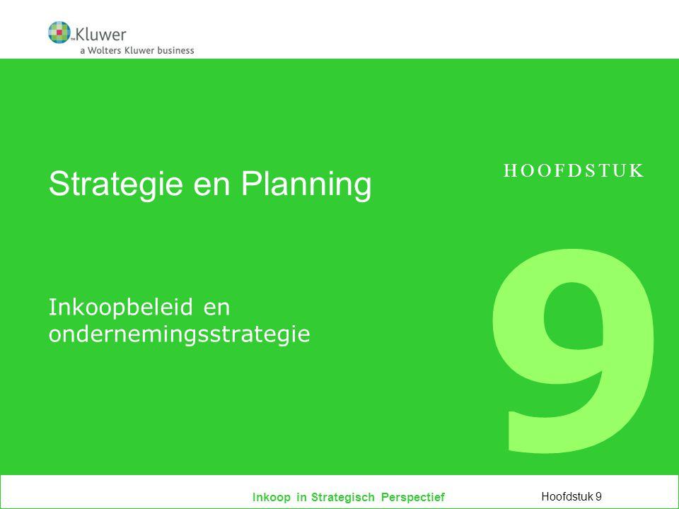Inkoopbeleid en ondernemingsstrategie