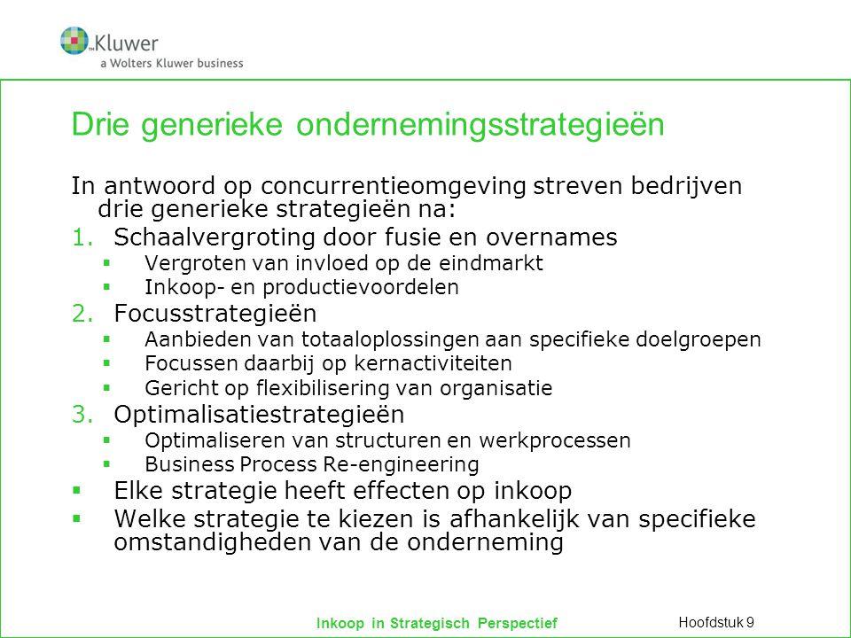 Drie generieke ondernemingsstrategieën