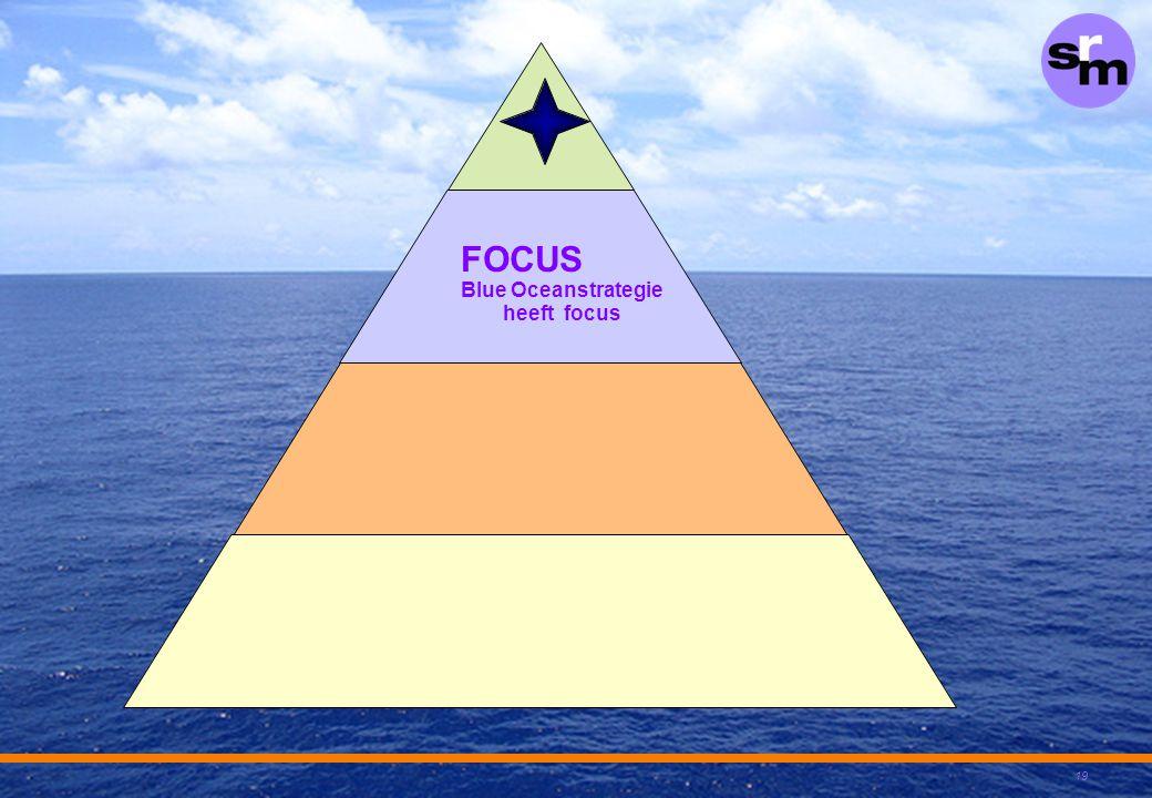 Blue Oceanstrategie heeft focus