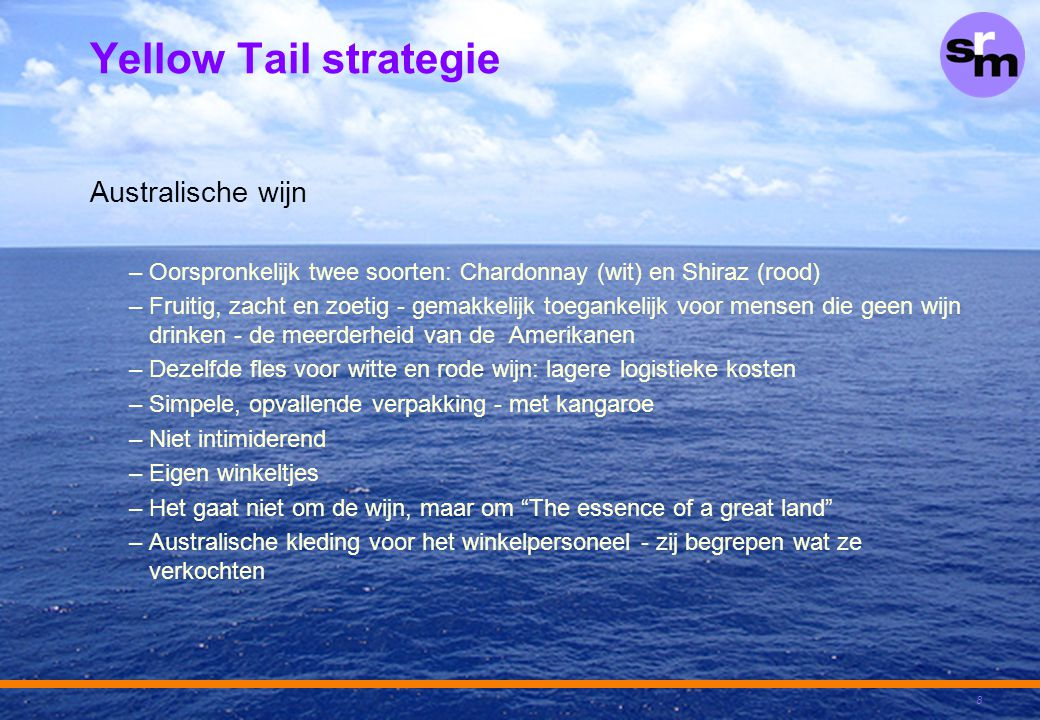 Yellow Tail strategie Australische wijn