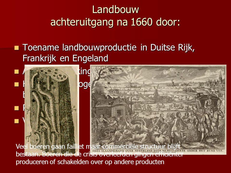 Landbouw achteruitgang na 1660 door: