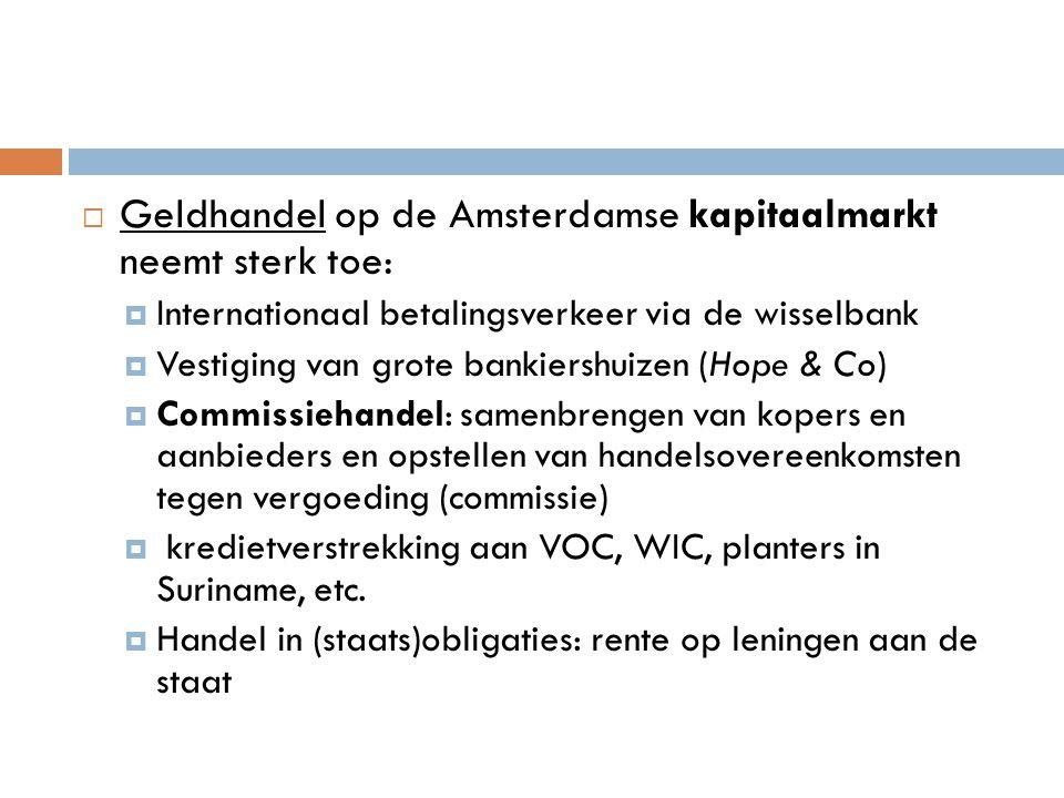 Geldhandel op de Amsterdamse kapitaalmarkt neemt sterk toe: