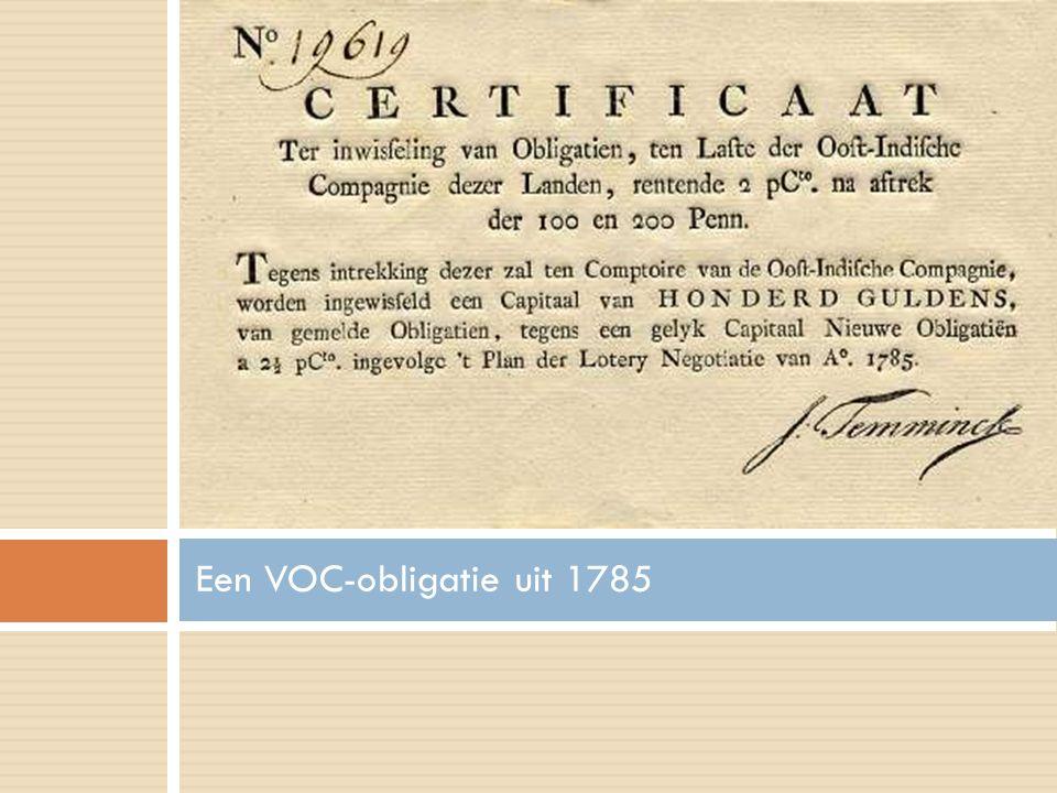 Een VOC-obligatie uit 1785