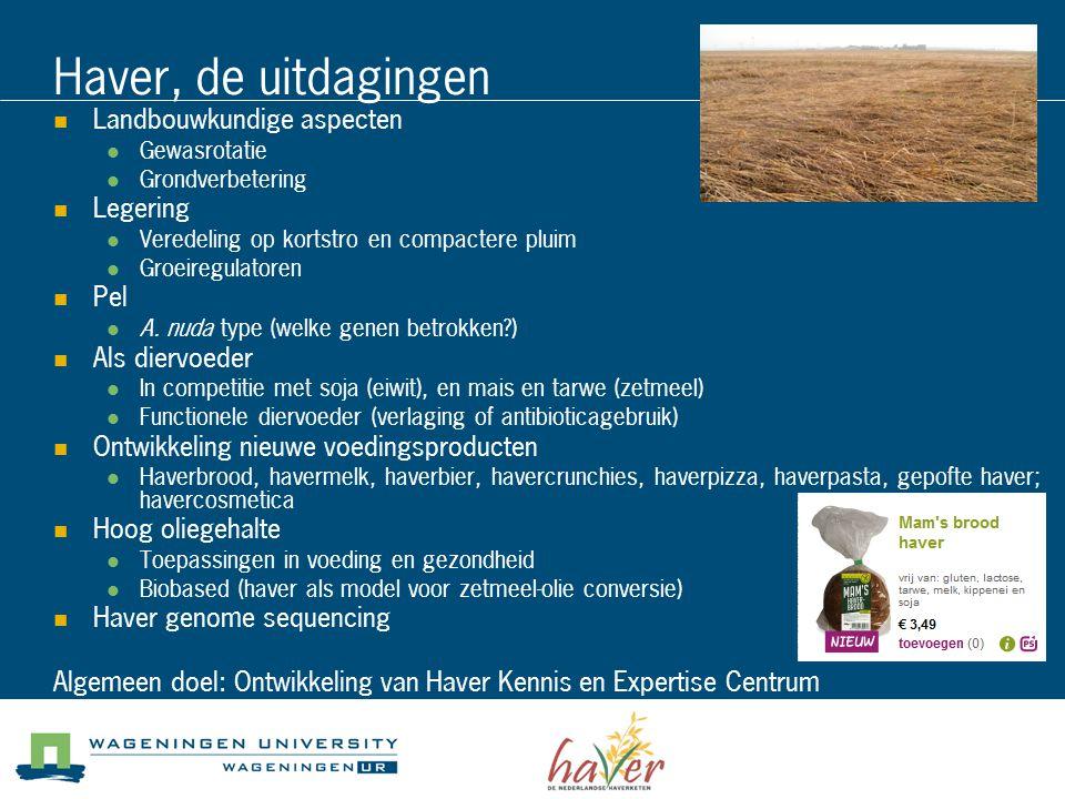 Haver, de uitdagingen Landbouwkundige aspecten Legering Pel