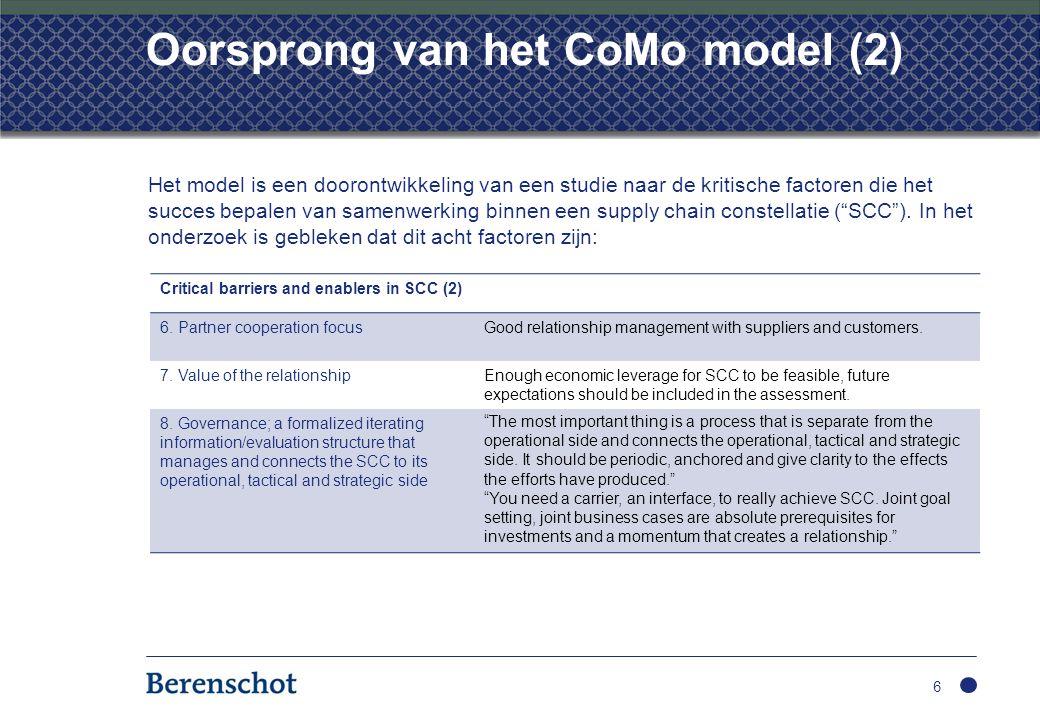Oorsprong van het CoMo model (2)