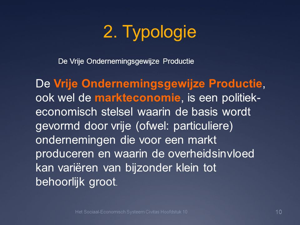 2. Typologie De Vrije Ondernemingsgewijze Productie.