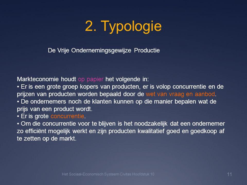 2. Typologie De Vrije Ondernemingsgewijze Productie