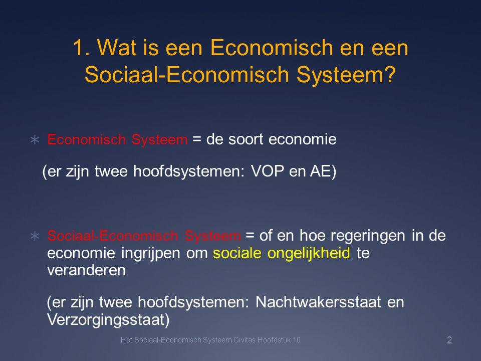 1. Wat is een Economisch en een Sociaal-Economisch Systeem