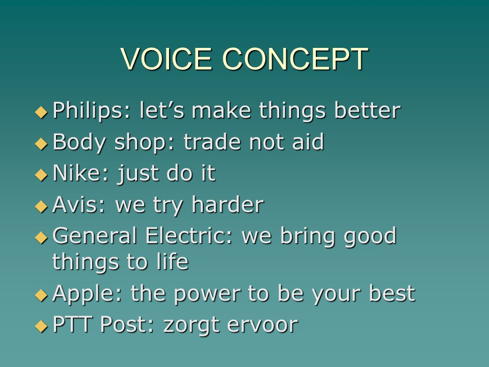 VOICE CONCEPT Philips: let's make things better