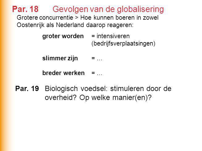 Par. 18 Gevolgen van de globalisering