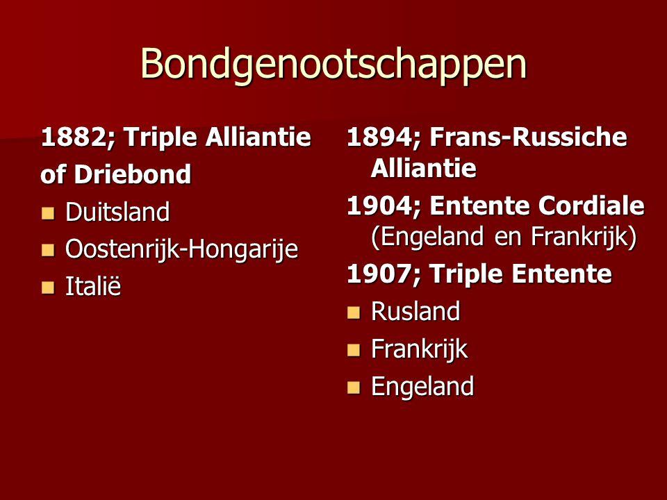 Bondgenootschappen 1882; Triple Alliantie of Driebond Duitsland
