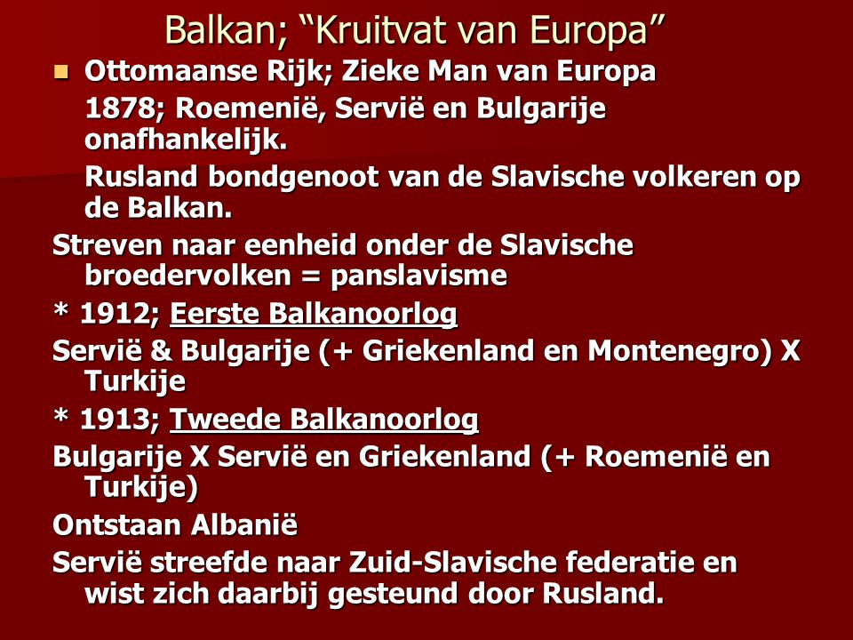 Balkan; Kruitvat van Europa