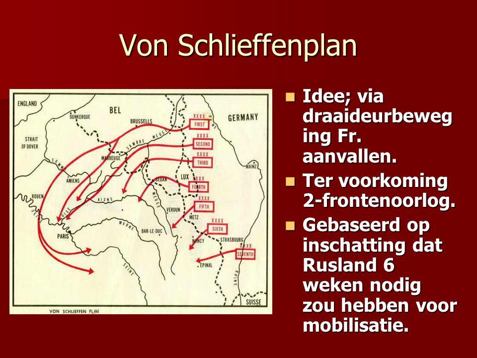 Von Schlieffenplan Idee; via draaideurbeweging Fr. aanvallen.