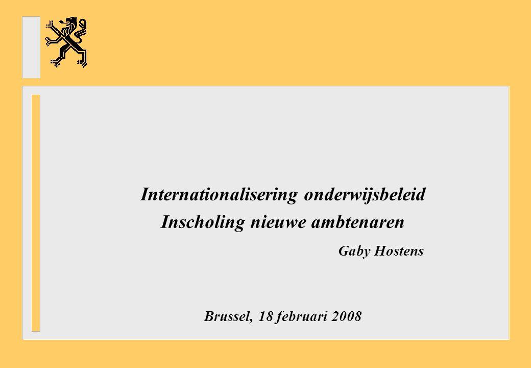 Internationalisering onderwijsbeleid Inscholing nieuwe ambtenaren