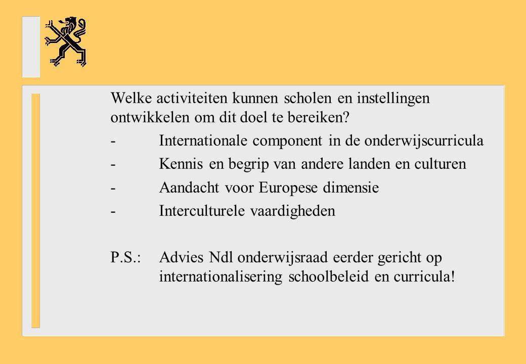 Welke activiteiten kunnen scholen en instellingen