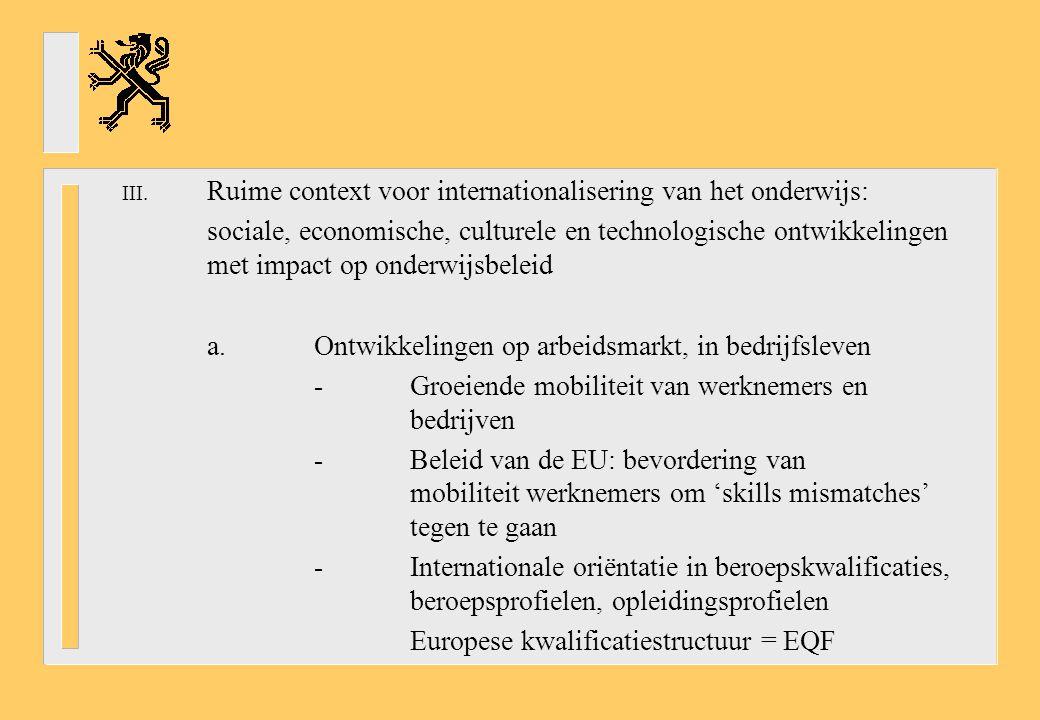 Ruime context voor internationalisering van het onderwijs: