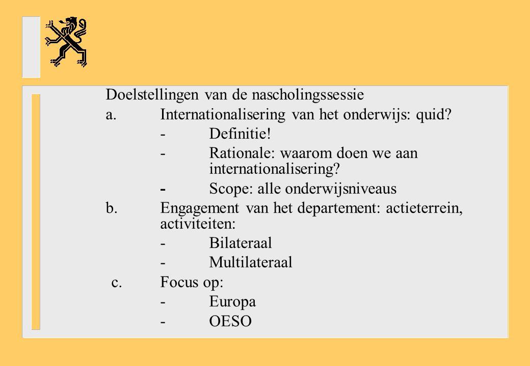 a. Internationalisering van het onderwijs: quid - Definitie!