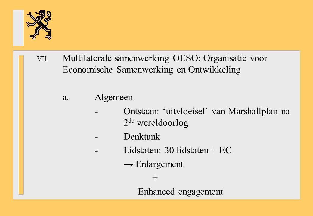 Multilaterale samenwerking OESO: Organisatie voor Economische Samenwerking en Ontwikkeling