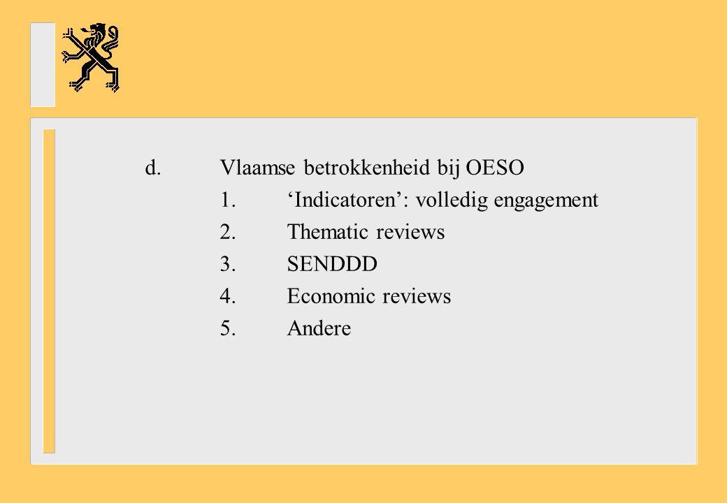 d. Vlaamse betrokkenheid bij OESO