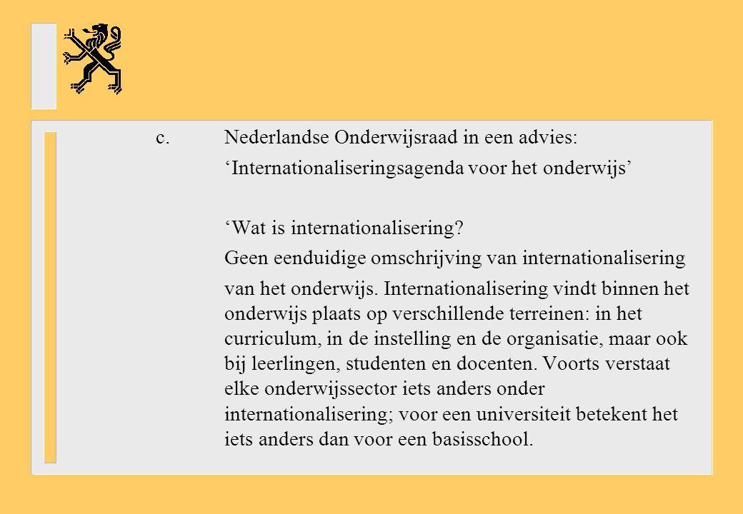 'Internationaliseringsagenda voor het onderwijs'