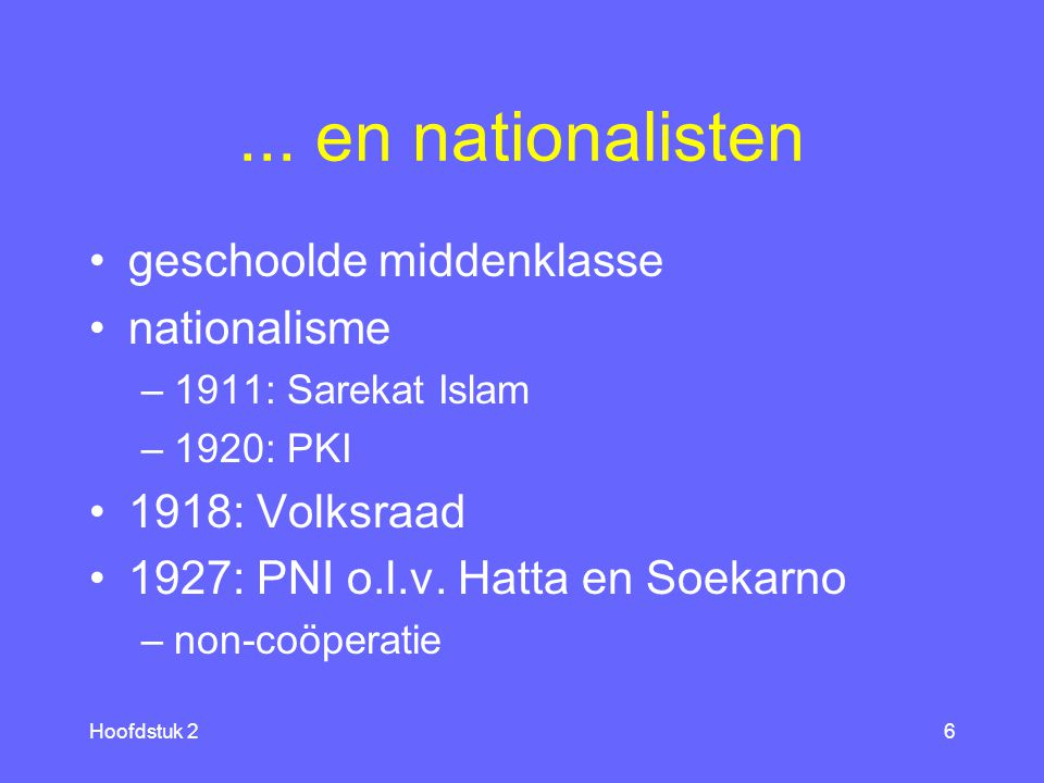 ... en nationalisten geschoolde middenklasse nationalisme