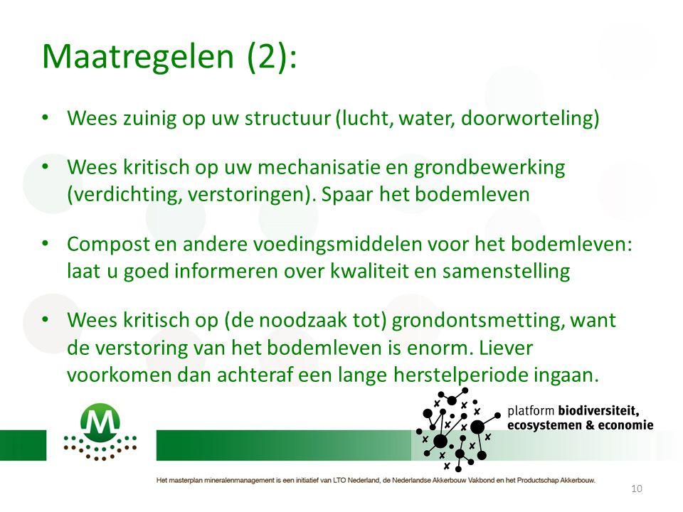 Maatregelen (2): Wees zuinig op uw structuur (lucht, water, doorworteling)
