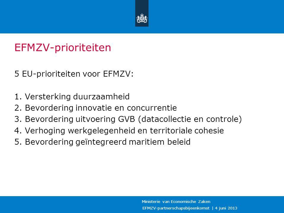 EFMZV-prioriteiten 5 EU-prioriteiten voor EFMZV: