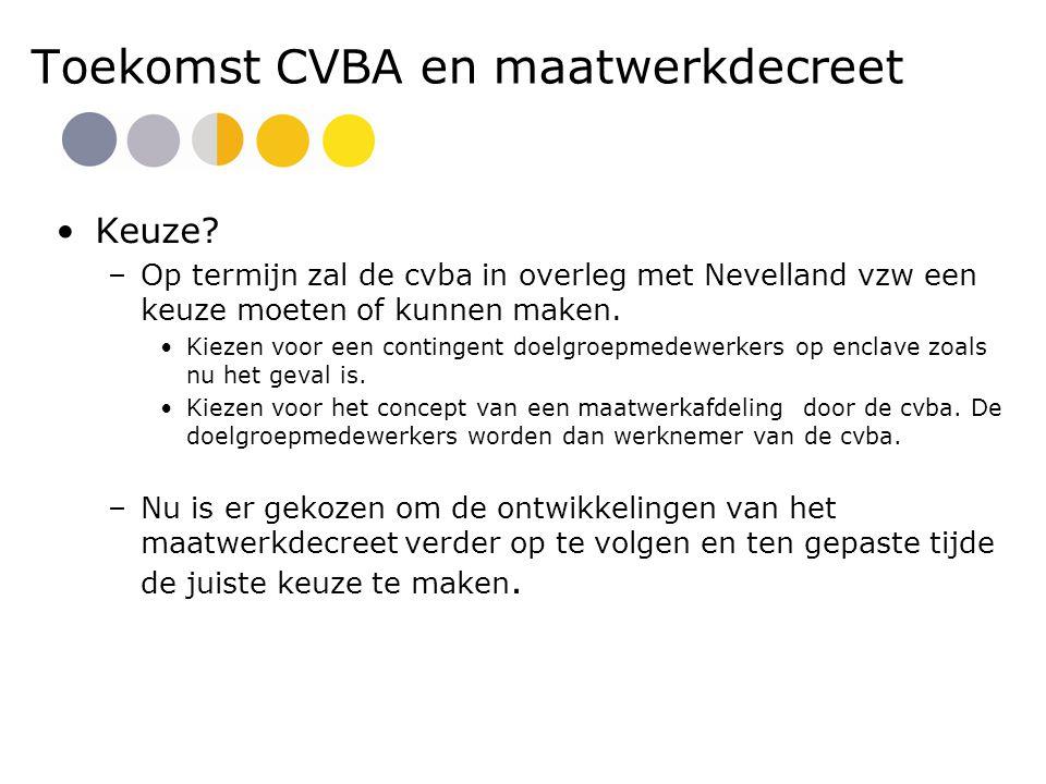 Toekomst CVBA en maatwerkdecreet