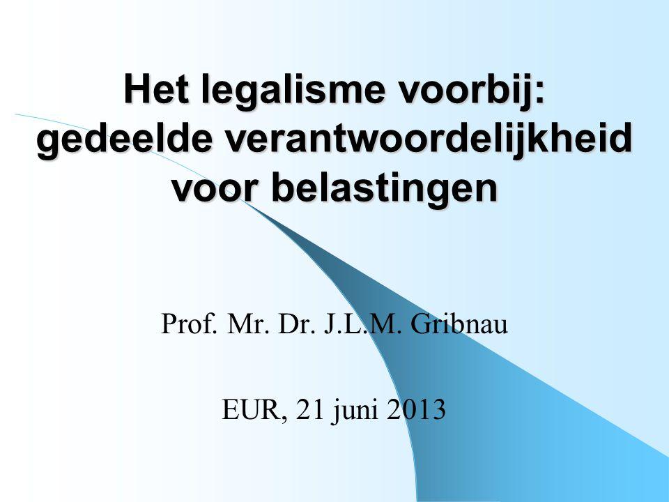 Het legalisme voorbij: gedeelde verantwoordelijkheid voor belastingen