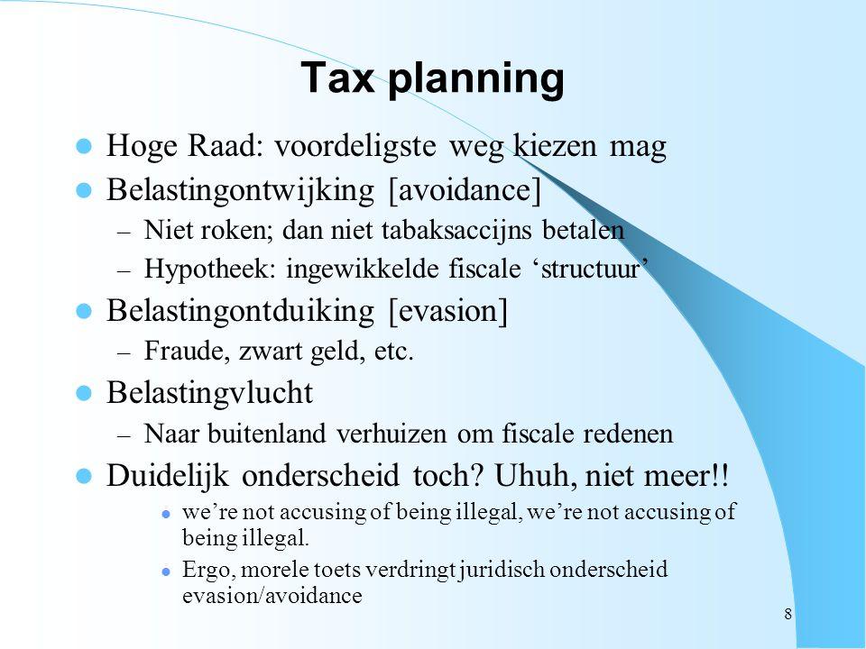 Tax planning Hoge Raad: voordeligste weg kiezen mag