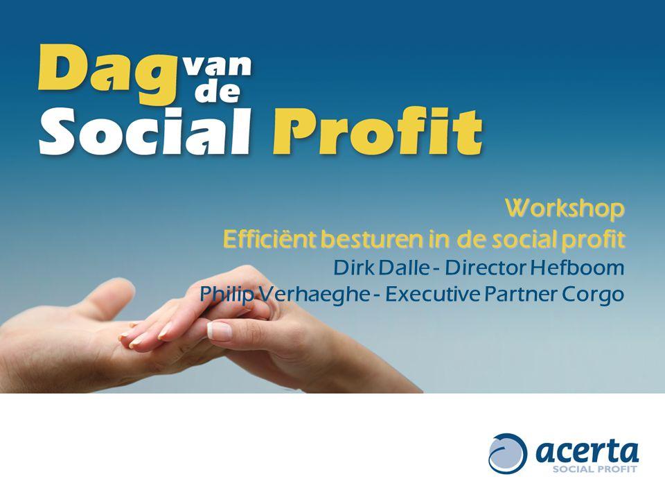 Efficiënt besturen in de social profit