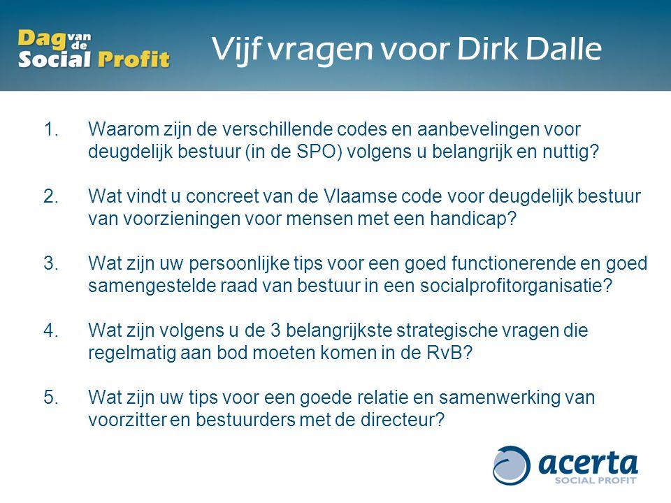 Vijf vragen voor Dirk Dalle