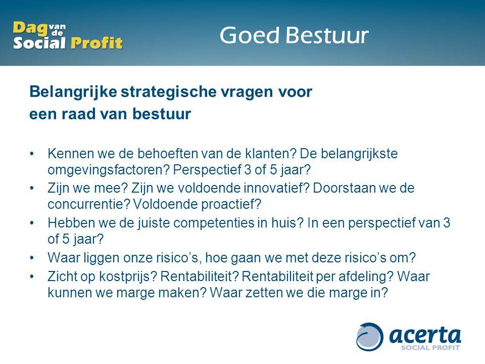 Goed Bestuur Belangrijke strategische vragen voor een raad van bestuur