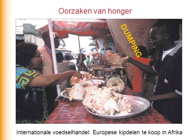 Internationale voedselhandel: Europese kipdelen te koop in Afrika