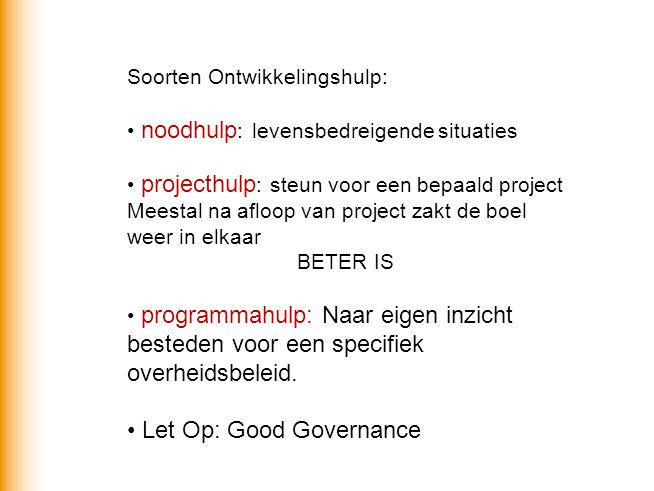 Let Op: Good Governance