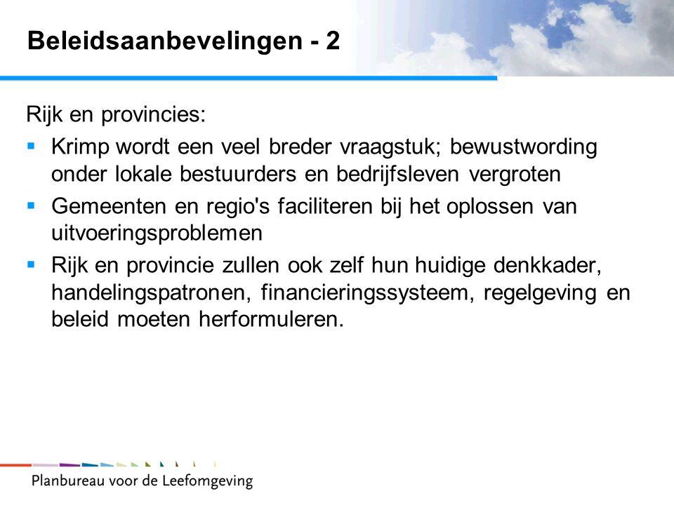 Beleidsaanbevelingen - 2