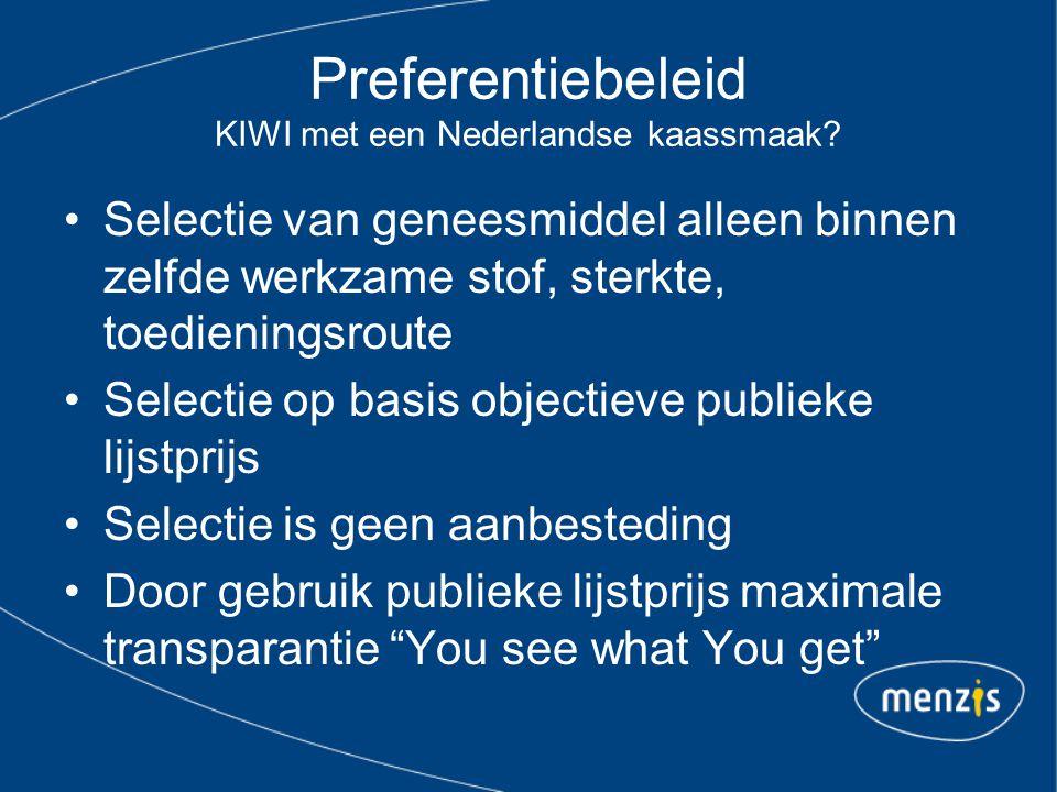 Preferentiebeleid KIWI met een Nederlandse kaassmaak