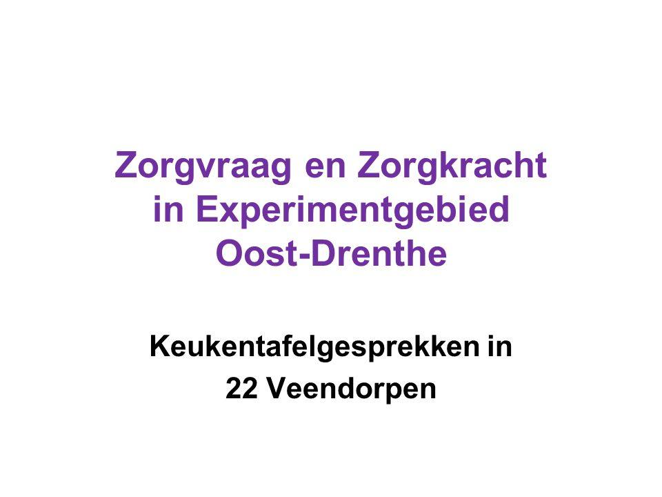 Zorgvraag en Zorgkracht in Experimentgebied Oost-Drenthe