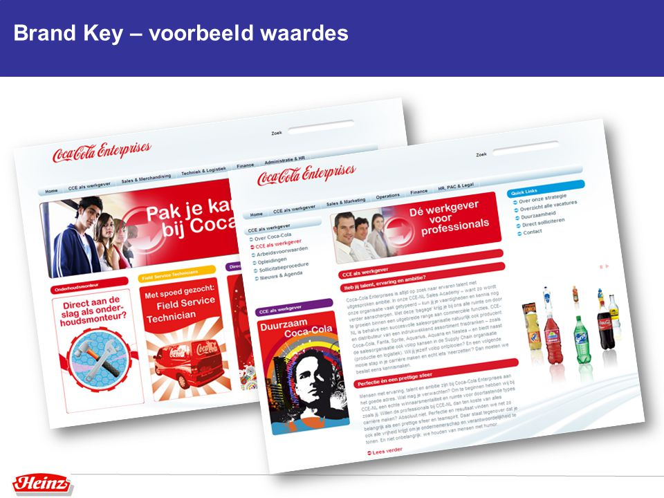 Brand Key – voorbeeld waardes