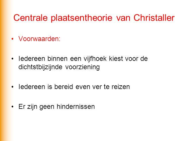 Centrale plaatsentheorie van Christaller