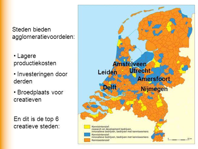 Steden bieden agglomeratievoordelen: