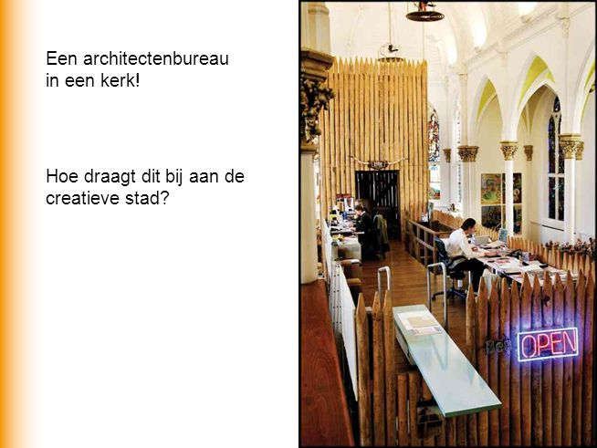 Een architectenbureau in een kerk!