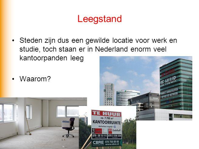 Leegstand Steden zijn dus een gewilde locatie voor werk en studie, toch staan er in Nederland enorm veel kantoorpanden leeg.