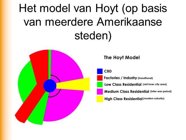 Het model van Hoyt (op basis van meerdere Amerikaanse steden)