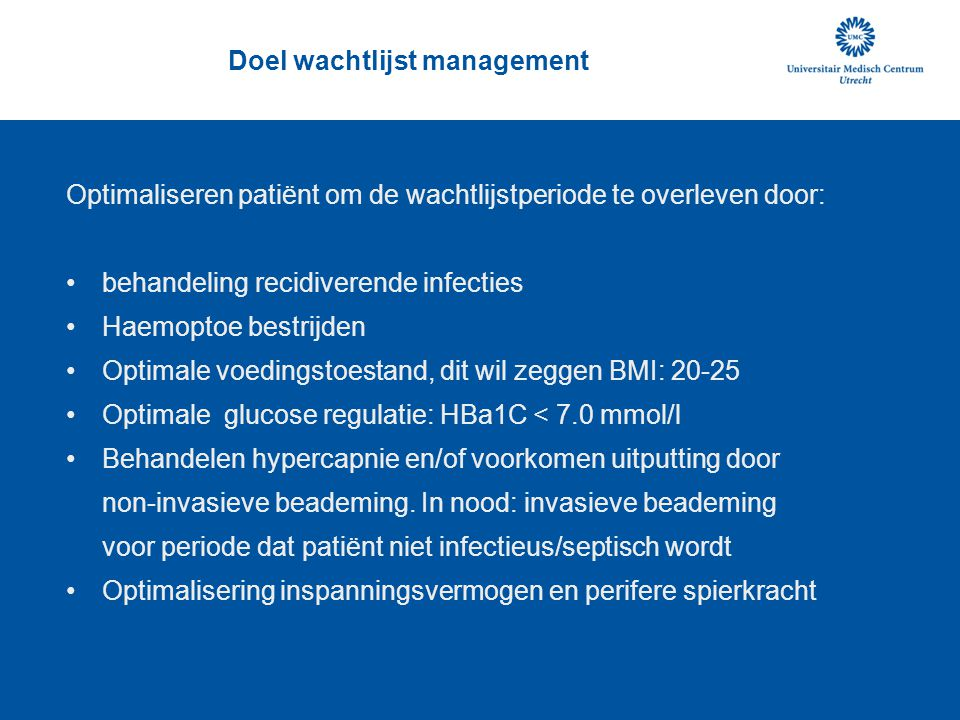 Doel wachtlijst management