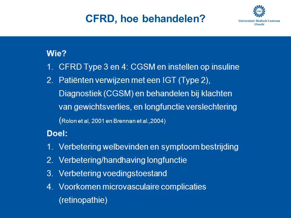 CFRD, hoe behandelen Wie