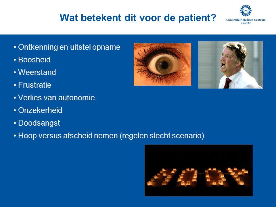 Wat betekent dit voor de patient